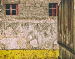 Forgotten .. (miguel.santos.1029) Tags: windows red urban abandoned yellow wall cores streetphotography forgotten streetphoto walls brokenwindows janelas murro abandonado abandonedplaces lugaresabandonados