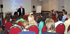 Speaking for ELION Media Ministry in Serbia