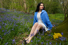 Lady in the Bluebells (tj.blackwell) Tags: summer england girl beauty bluebells lady forest pose outdoors spring woods natural britain yorkshire ilkley middleton