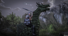 The Dragon's Rider ( c, ONLY c) Tags: life art photography dragon ride mesh body armor sword second beast knight tmp roleplay gorean