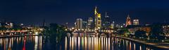 Frankfurt nightscape (buxna) Tags: city longexposure panorama germany cityscape sigma 1750 ffm