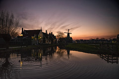 Countryside Susnet (angheloflores) Tags: sunset sky netherlands colors clouds landscape countryside explore zaanseschans northholland