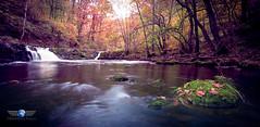 Neath waterfalls (Global Drone Surveys) Tags: neath wales waterfalls autumn river waterfall gold
