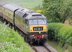 D1661 North Star at Woolston 10th June 2016 (David Cronin) Tags: somerset northstar woolston westsomersetrailway class47 depg d1661 dieselelectricpreservationgroup mixedtractionweekend2016