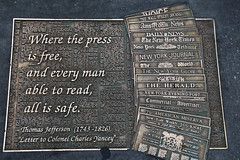 Where the press is free and every man able to read all is safe - Thomas Jefferson - New York Library Way Walk (neeravbhatt) Tags: new york man way is all thomas walk library free read every where jefferson safe press able