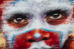 african eyes (PDKImages) Tags: flowers windows streetart beauty face daisies contrast manchester graffiti eyes kiss colours murals stunning daisy gods walls artinthecity manchesterstreetgallery