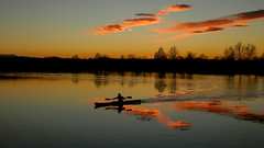 Canoeing (theSnoopyG - thanks for over 300.000 views!) Tags: sunset panorama lake reflection silhouette landscape lago kayak tramonto kayaking canoeing paysage riflessi paesaggio canoa riflesso