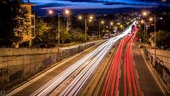 Traffic (konstantinos.arvanitis) Tags: road city longexposure sunset urban car lights twilight cityscape traffic outdoor places thessaloniki lightrails