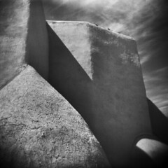 Taos #3 (LowerDarnley) Tags: holga taos newmexico southwest adobe church sanfranciscodeassisi mission spanish