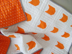 Orange-cat-quilt_000008 (irina_vykhrestiuk) Tags: modern quilt handmade homemade twin kid child patchwork bedding bed quilting memory throw