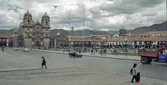 Peru : Cuzco #7 (foto_morgana) Tags: peru southamerica cuzco cathedral outdoor nikoncoolscan analogphotography plazadearmas analogefotografie vuescan travelexperience photographieanalogue