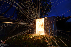 shed (PhilPhotosity) Tags: longexposure wool night steel spin shed spinning sparks
