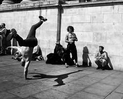 B-boy (Wormsmeat) Tags: london londonstreetphotography breakdance bboy shadow panasonic dmcgm5 handstand