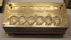 Six figure calculating machine 1642 - designed and built by Blaise Pascal (Monceau) Tags: paris mechanical 17thcentury machinery calculator pascal musedesartsetmtiers 103mechanical 116picturesin2016