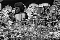 That Moment When Your Possessions Begin To Possess You (Culture Shlock) Tags: street portrait people portraits silver junk vendor antiques sell keepsakes possessions collectibles possess fleamarkets streetportraits