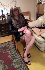 IMG_0396crop (Andrina Westerdale) Tags: tranny tv mature crossdresser tgirl sissy transgender transvestite travestie auntie gilf cilf tilf shemale indoor footwear ts cd tg transexual transwoman pansy faggot whore fairy queen princess bitch femboi