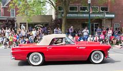 IMG_2830 (marylea) Tags: red classic car community classiccar michigan convertible parade dexter thunderbird memorialday 2015 may25 memorialdayparade washtenawcounty