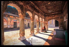Wazir Khan Mosque (Humayun Amjad) Tags: pakistan tourism landscape dawn architechture shadows pray lahore hdr allah wazirkhanmosque etribune