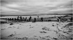 Alnmouth . (wayman2011) Tags: uk people beach coast seaside seascapes northumberland alnmouth canon5d lightroom bwlandscapes wayman2011