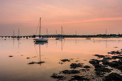 Pastel Sundown (Sunset Snapper) Tags: uk sunset seaweed reflections boats still nikon may hampshire calm lee nd serene lowtide yachts grad southcoast tranquil 2016 2470mm filer langstoneharbour d810 sunsetsnapper pastelsundown