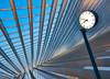 Calatrava's line and the clock (Michael Echteld) Tags: clock lines architecture train belgium belgie time wideangle trainstation liege modernarchitecture slanted luik santiagocalatrava skewed ultrawideangle a700 sigma1020 apsc sonyalpha liegeguillemins sonya700 sonyalpha700 michaelechteldfotografie michaelechteldphotography miichaelechteld