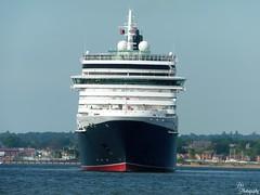 Queen Victoria (DDHPhotography) Tags: travel boats boat outdoor ships vessel panasonic transportation vehicle southampton cunard cruises cruiseships headon