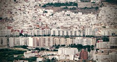 Ttouan Buildings (Yassine Abbadi) Tags: road bridge sea sky cloud mountain beach grass plane sunrise buildings spring hill mosque morocco maroc hdr tetuan tetouan martil bouanane