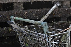 2016-05-07: Trollied (psyxjaw) Tags: park london abandoned water river shopping trolley lee olympic riverlee waitrose dumped londonist