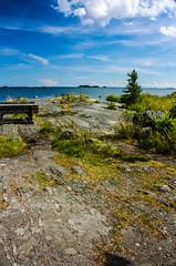 IMG_9022-1 (Andre56154) Tags: sky lake water clouds see rocks wasser sweden schweden pflanze himmel wolken ufer schren felsen
