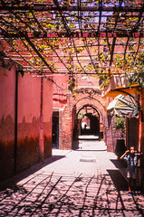 Shadows @ Medina - Marrakech (PaulHoo) Tags: film analog velvia fujifilm color saturized saturization 2016 marrakech marocco africa city urban contax t2 lightroom scan 35mm medina shadow boy childhood children portrait candid streetcandid pattern ilobsterit