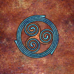 spirals (chrisinplymouth) Tags: spirality art pattern design spiral image whorl coil abstract cw69x artwork square symmetry curl triskele digitalart trumpet cw69sym symbol triskelion triplespiral celticspiral celtic rust trisquel geometric geometry cw69spiral