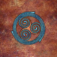 spirals (chrisinplymouth) Tags: spirality art pattern design spiral image whorl coil abstract cw69x artwork square symmetry curl triskele digitalart trumpet cw69sym symbol triskelion triplespiral celticspiral celtic rust trisquel geometric geometry cw69spiral emd