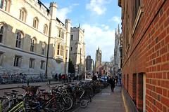 (ashleigh290) Tags: street cambridge england brick bicycle spring university unitedkingdom pile
