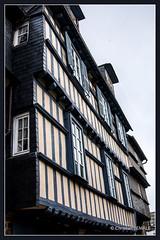 Maison  pans de bois / Half-timbered house - Quimper  (Kemper en breton) (christian_lemale) Tags: house france architecture nikon bretagne maison halftimbered kemper quimper colombages pansdebois d7100