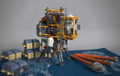 Asteroid Drilling Platform (Sunder_59) Tags: lego render space scifi vehicle spaceship spacecraft starship moc blender3d mecabricks astrominers