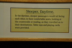 Signage about sleeping car accommodation by day (shankar s.) Tags: canada nfl stjohns headquarters railwaystation coastal signage heritagebuilding diorama railwaymuseum railroadstation localhistory stationplatform sleepingcar sleepercar railwayheritage informationsign railwaycoastalmuseum easterncanada railwayhistory newfoundlandandlabrador indoorexhibits newfoundlandrailway periodsetting sittingaccommodation towndowntownstjohns stjohnsstationplatform