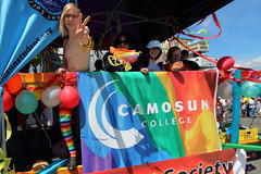 Victoria Pride Parade 2016 (professional recreationalist) Tags: gay man male college sign festival lesbian nipples peace chest pride parade homoerotic homosexual gaypride brucedean professionalrecreationalist peacesign transexual victoriabc camosun camosuncollege lgtb