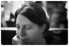 Read my mind (Mister Blur) Tags: portrait blackandwhite blur 35mm lights restaurant nikon background blurred mister 18 mrs mygirl parisien readmymind d7100