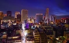 Good morning, Osaka! (ap0013) Tags: city longexposure urban sun japan skyline skyscraper sunrise downtown cityscape  osaka risingsun  japansunrise sakashi osakasunrise