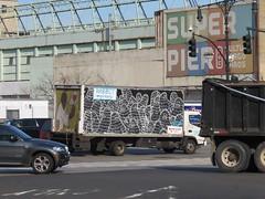 NYC Graffiti Van (tofz4u) Tags: street nyc usa streetart ny newyork truck traffic unitedstatesofamerica camion van rue trafic artderue tatsunis rabbitmovers
