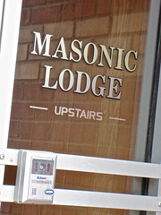 Masonic Lodge, New Ulm, MN (Robby Virus) Tags: minnesota sign temple lodge masonic signage fraternal organization freemasons newulm