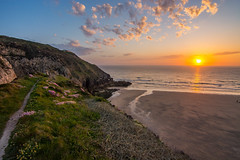 Perranporth sunset (Craig Skinner - www.craigskinnerphotography.co.uk) Tags: uk sunset sea england cliff sun sunlight beach seaside nikon cornwall atlantic tokina cornish kernow perranporth 1116mm