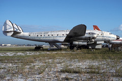 N90816-1-KFLL-OCT1988 (Alpha Mike Aviation Photography) Tags: hollywood fortlauderdale lockheed constellation fll kfll l049 n90816