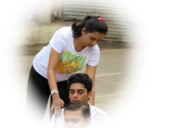 The right posture (JimReeves) Tags: people yoga teacher posture pune erect yogaday rightposture