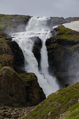 Rjukandi waterfall (Igor Sorokin) Tags: europe north iceland island travel waterfall scenic landscape mountain water snow dslr nikon d7000 sigma 1770 telephoto zoom lens rjukandi