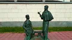 .   Holmes and Watson monument the British Embassy in Moscow   #holmes  #moscow  #gbembassy (Sergio_O) Tags: moscow holmes gbembassy