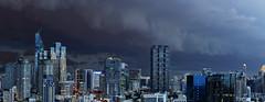 Storm Warning (I Prahin | www.southeastasia-images.com) Tags: city urban rain skyline clouds dark thailand asia cityscape bangkok monsoon thunderstorm tempest sathorn
