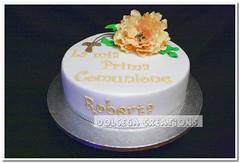 Comunione (Dolcegacreations) Tags: fiori firstcommunion comunione primacomunione pdz sugarpaste pastadizucchero fioridizucchero dolcegacreations wwwdolcegacom dolcega