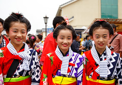 Kamicho Kotemai girls (Apricot Cafe) Tags: festival japan power religion peaceful happiness jp chiba success enjoying narita teamwork 2016 chibaken traditionaloutfit annualevent naritagionfestival naritashi canonef2470mmf28liiusm