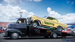 Falconstein & Hauler (Mark O'Grady - Proudly Serving Millions of Viewers) Tags: 2016 2016goodguysppgnationals carshow columbusohio goodguys mospeedimages outdoor vehicle fordmotorcompany ford fomoco gasser afx 1953chevycoe cabover customcarhauler falcon